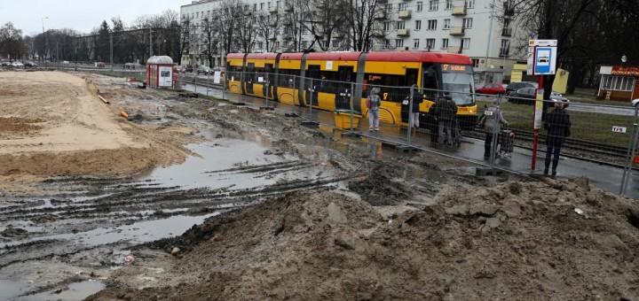 Wołoska zamknięta dla tramwajów już od marca.