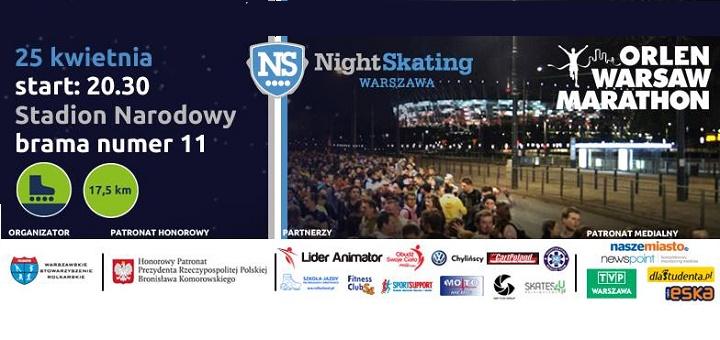 Nightskating Warszawa z ORLEN Warsaw Marathon