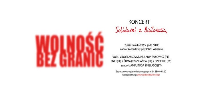 Koncert Solidarni z Białorusią 2015