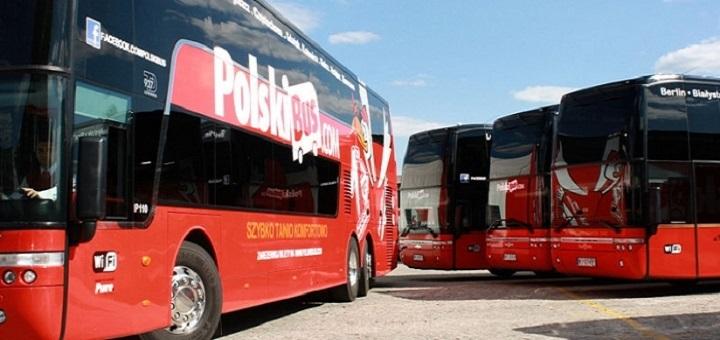 POLSKIBUS POLSKI BUS AUTOBUSY PRZEJAZD PODROZE PASAZEROWIE TRANSPORT