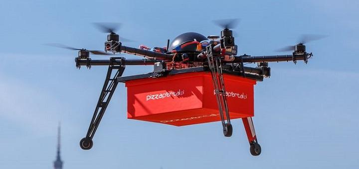 Jedzenie w Warszawie będą dostarczać drony