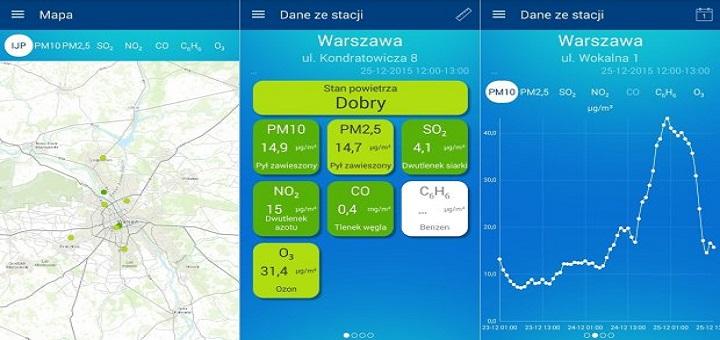 Sprawdź jakość powietrza w stolicy za pomocą smartfona