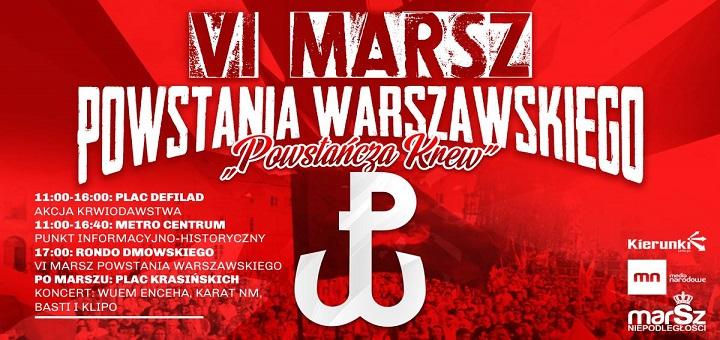 VI Marsz Powstania Warszawskiego - Powstańcza Krew