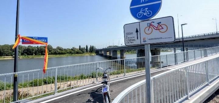 Kładka rowerowa przez Wisłę już gotowa