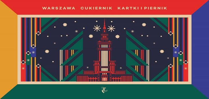 Świąteczny namiot na Krakowskim Przedmieściu